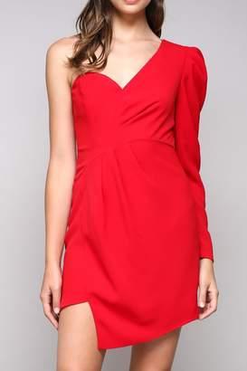 Do & Be Red Asymmetrical Dress