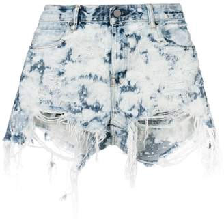 Alexander Wang distressed detail shorts