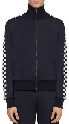 Versace Checkered-Stripe Track Jacket