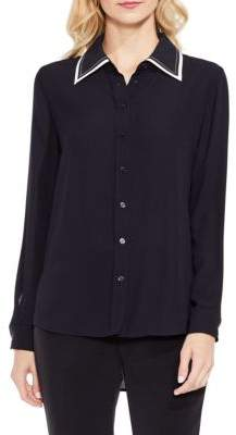 Vince Camuto Contrast Collar Button-Down Shirt
