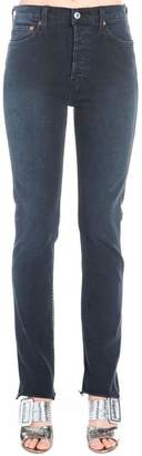 RE/DONE Straight Leg Frayed Edge Jeans