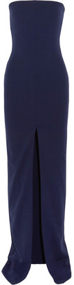 Solace London - Aubrey Strapless Stretch-crepe Gown - Navy $400 thestylecure.com