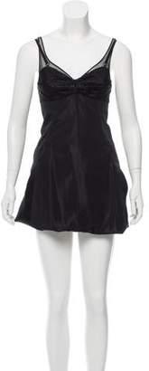 Balenciaga Mesh-Trimmed Bustier Dress w/ Tags