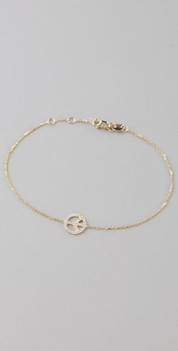 Sydney Evan Mini Peace Diamond Bracelet