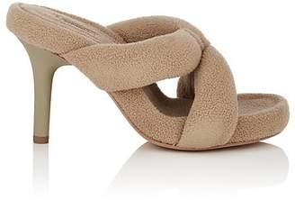 Yeezy Women's Crisscross-Strap Fleece Sandals
