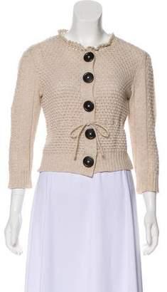 Chloé Wool Crop Cardigan