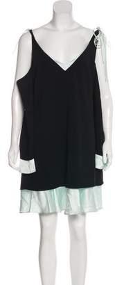 Cinq à Sept Cold-Shoulder Mini Dress