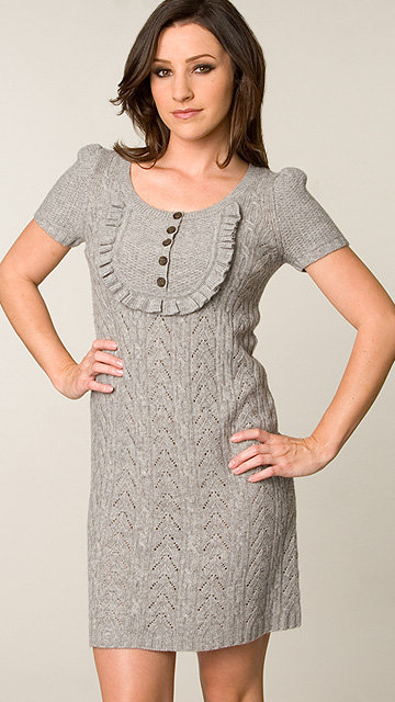 Juicy Couture Greystone Ruffle Front Dress