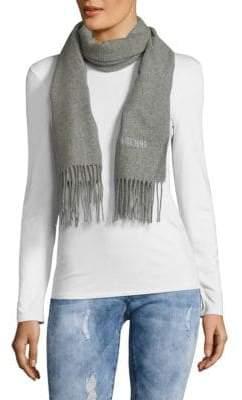Moschino Fringed Merino Wool Scarf
