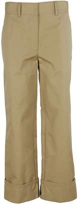 Prada Long Straight Fit Folded Cuff Trousers