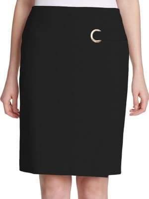 Calvin Klein Petite Grommet Wrap Skirt