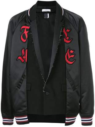 Facetasm contrast style logo jacket