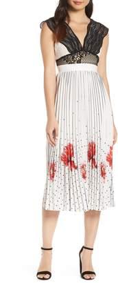 Foxiedox Hera Pleat Midi Dress