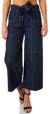 RES Denim New Women's Oscar Ankle Wide Jean Cotton Fitted Stripe