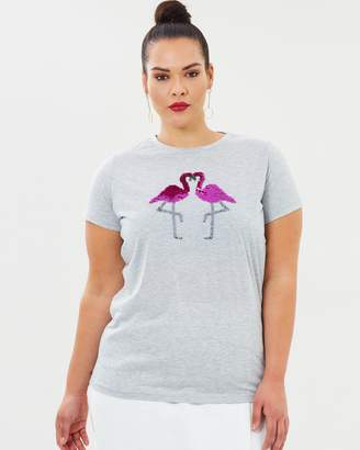 Flamingo Sequin Motif Tee