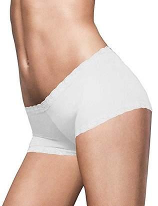 Maidenform Women's Microfiber with Lace Boyshort Panty