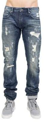 Cult of Individuality Rocker Modern-Fit Stretch Cotton Moto Jeans
