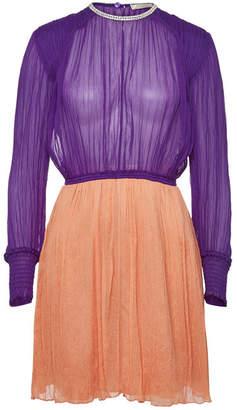 Nina Ricci Silk Dress with Crystal Embellishment