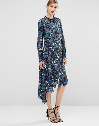 Self Portrait Lace Asymmetric Dress $497 thestylecure.com