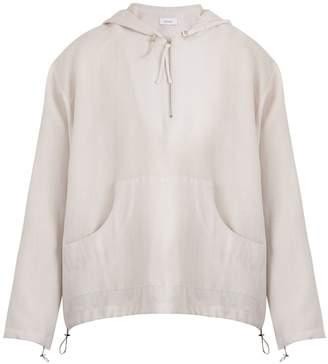 Fanmail Linen hooded sweatshirt