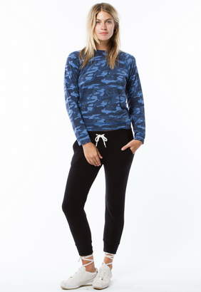 Monrow Cropped Sporty Sweatpant
