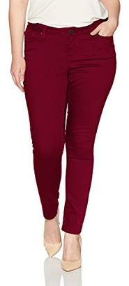 YMI Jeanswear Women's Plus Size Juniors Wannabettabutt Single Button Skinny Jean