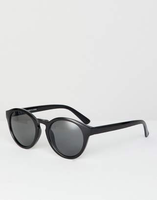 Weekday Round Sunglasses In Black