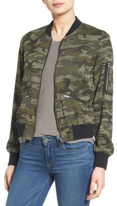 Women's C & C California Camo Print Bomber Jacket $115 thestylecure.com
