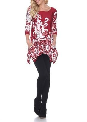 White Mark Women's Yanette Tunic Top