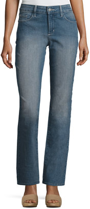 NYDJ Marilyn Palmdale Straight Jeans, Medium Blue $85 thestylecure.com