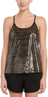 Julie Brown Eloise Black & Gold Sequin Top