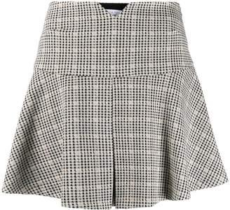 Patrizia Pepe check patterned flared mini skirt