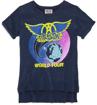 Junk Food Clothing Girls' Aerosmith World Tour Tee - Big Kid