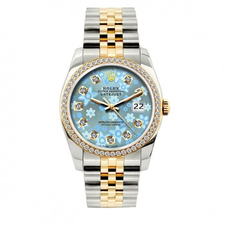 Rolex Vintage Datejust 36mm Blue gold and steel Watches