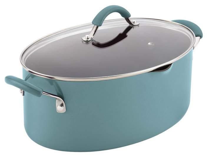 Rachael Ray Cucina 8-qt. Hard-Enamel Oval Pasta Pot