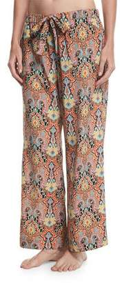 Etro Printed Wide-Leg Drawstring Beach Pants