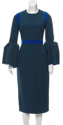 Roksanda Bell Sleeve Midi Dress