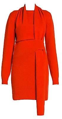 Bottega Veneta Women's Brushed Wool Woven Sweaterdress