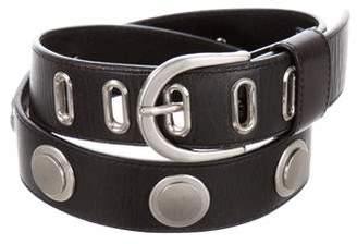 Diane von Furstenberg Leather Studded Belt