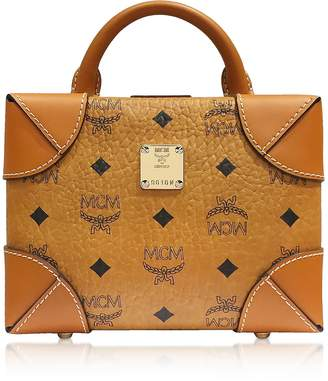 MCM Cognac Soft Berlin Visetos Small Crossbody Bag