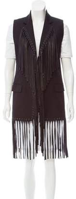 Alexander Wang Leather-Accented Longline Vest