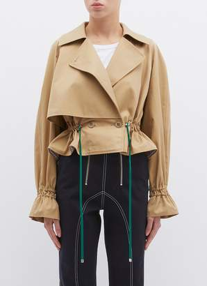 Tibi 'Finn' drawstring waist cropped trench jacket