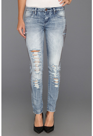 Blank NYC The Spray On Ripped Skinny w/Side Embellishment in Minor Threat