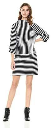 Kenneth Cole Women's Mock Neck Tee Dress