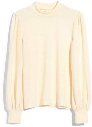 Madewell Puff Sleeve Mock Neck Top