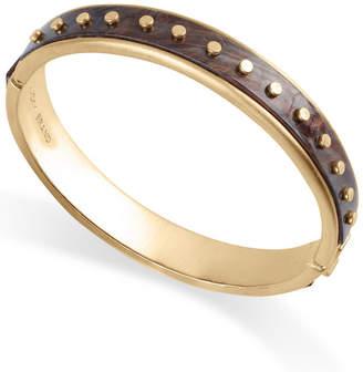Lucky Brand Gold-Tone & Acetone Rivet Bangle Bracelet