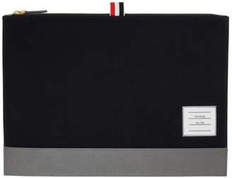 Thom Browne Navy Medium Zipper Document Holder