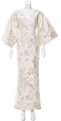 Christian Siriano Floral Brocade Evening Dress