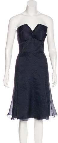 Armani Collezioni Strapless Mini Dress