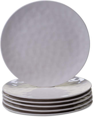 Certified International 6-Pc. Cream Melamine Dinner Plate Set